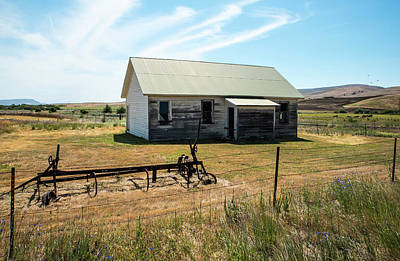 Photograph - Fading House And Rusting Plow by Tom Cochran