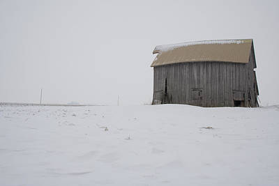 Photograph - Fading Visibility Barn by Dylan Punke