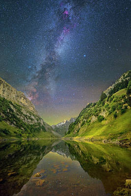 Photograph - Faelensee Nights by Ralf Rohner