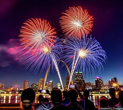 Photograph - Fair St. Louis Fireworks 6 by Matthew Chapman