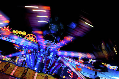 Photograph - Fairground Abstract Vii by Helen Northcott