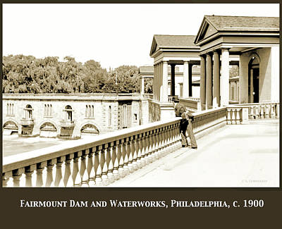 Polaroid Camera - Fairmount Dam and Waterworks, Philadelphia, c. 1900 by A Macarthur Gurmankin