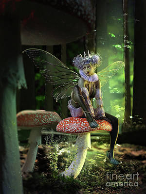 Digital Art - Fairy At The Bottom Of The Garden by Shanina Conway