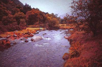 Photograph - Fairy Irish Journey. Glendalough Stream by Jenny Rainbow