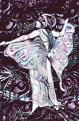 Mixed Media - Fairy Of The Flowers by Susan Maxwell Schmidt