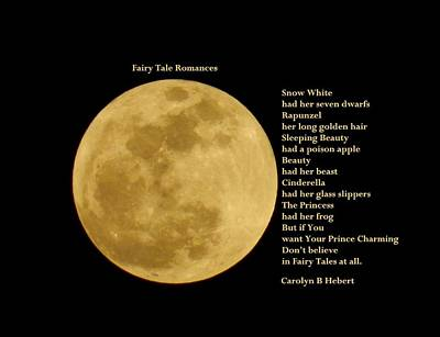 Fairy Poem Wall Art - Photograph - Fairy Tales Romances by Carolyn Hebert