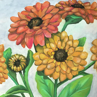 Painting - Fake Flowers Outside by Laura Dozor