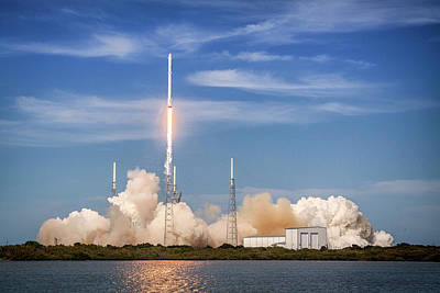 Photograph - Falcon Heavy Launch, Outer Space Image by Bill Swartwout Fine Art Photography