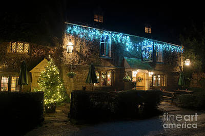 Photograph - Falkland Arms At Christmas by Tim Gainey