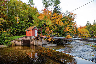 Photograph - Kancamagus Dam by Robert Clifford