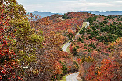 Photograph - Fall Along The Talimena Scenic Drive Byway - Oklahoma by Gregory Ballos