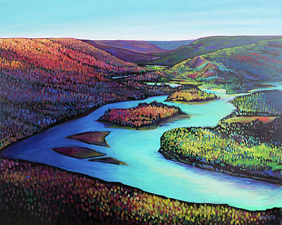 Painting - Fall Arrives at Peace River by Alison Newth