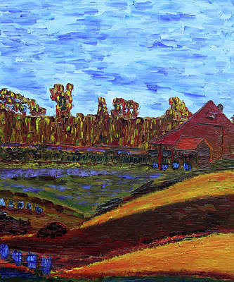 Painting - Fall At Aggie's Farm by Vadim Levin