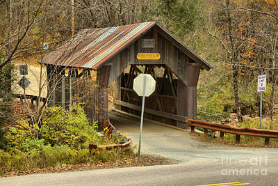 Photograph - Fall At Emily's Covered Bridge by Adam Jewell