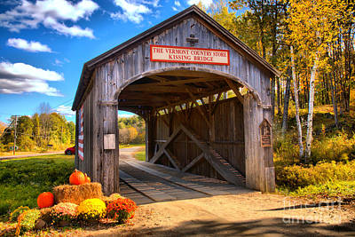 Photograph - Fall At The Kissing Bridge by Adam Jewell