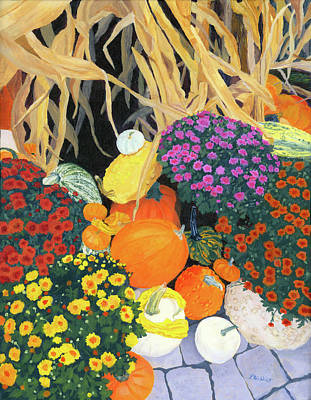 Painting - Fall Bounty by Lynne Reichhart