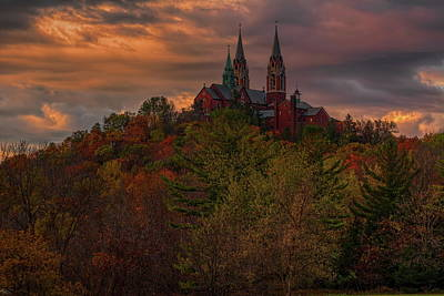 Photograph - Fall Clouds Over Holy Hill by Dale Kauzlaric