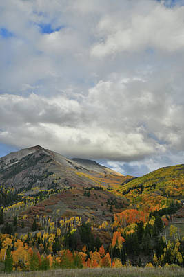Photograph - Fall Color Mountainside Along Last Dollar Road by Ray Mathis