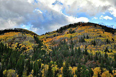 Photograph - Fall Colors Above Highway 145 by Ray Mathis