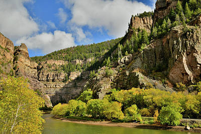 Photograph - Fall Colors Along Colorado River In Glenwood Canyon by Ray Mathis