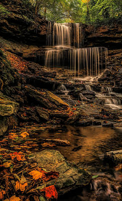 Digital Art - Fall Colors Along West Milton Waterfall by Dan Sproul
