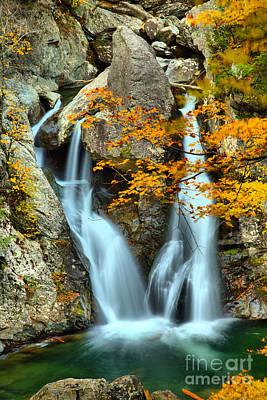Photograph - Fall Colors At Bash Bish Falls by Adam Jewell