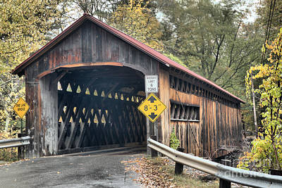 Photograph - Fall Colors At The Coombs Covered Bridge by Adam Jewell