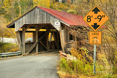 Photograph - Fall Colors At The Power House Covered Bridge by Adam Jewell