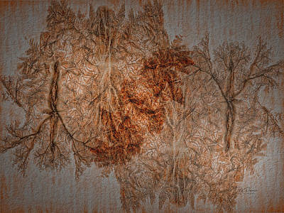 Digital Art - Fall Colors By Proxy -textured by Bill Posner