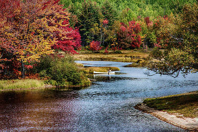 Photograph - Fall Colors In Baxter State Park by Jeff Folger