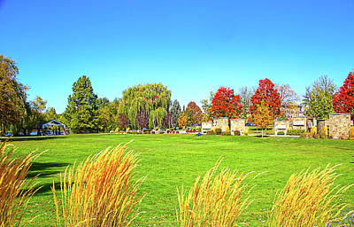 Art Print featuring the photograph Fall Colors In Boise, Idaho by Dart and Suze Humeston