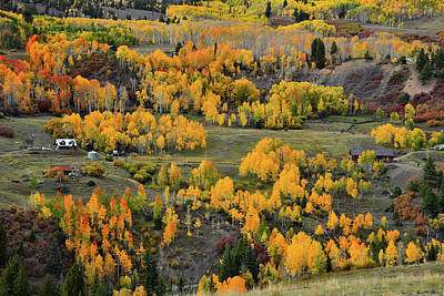 Photograph - Fall Colors On Last Dollar Road Ranches by Ray Mathis