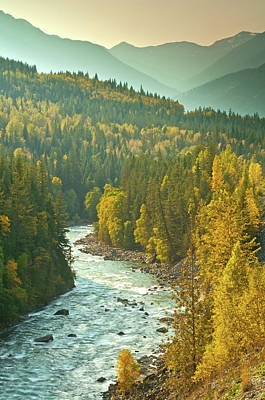 Photograph - Fall Colours Along The Fraser River by Phototropic