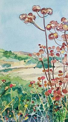 Irish Flags And Maps - Calabasas Seedheads  by Luisa Millicent