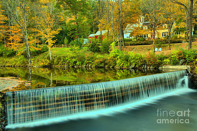 Photograph - Fall Evening At The Crib Dam by Adam Jewell