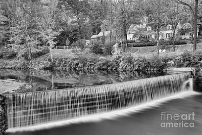 Photograph - Fall Evening At The Crib Dam Black And White by Adam Jewell