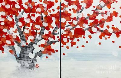 Painting - Fall Fall Fall by Wonju Hulse