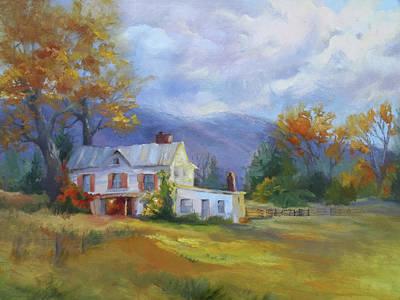 Painting - Fall Farmhouse by Jeri McDonald