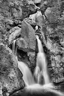 Photograph - Fall Foliage Around Bash Bish Falls Canyon Black And White by Adam Jewell