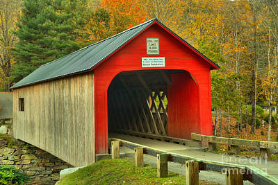 Photograph - Fall Foliage Around The Green River Covered Bridge by Adam Jewell