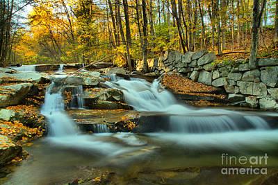 Photograph - Fall Foliage At Stickney Brook Falls by Adam Jewell