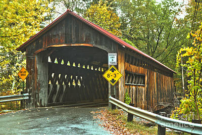 Photograph - Fall Foliage At The Coombs Covered Bridge by Adam Jewell