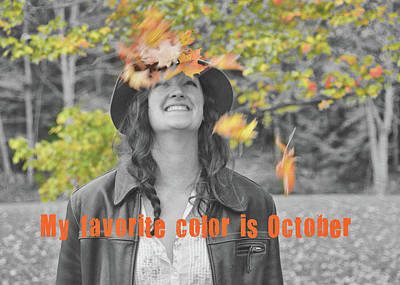 Photograph - Fall Foliage Fun Quote by JAMART Photography