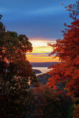 Photograph - Fall In Love - Beaver Lake Sunrise - Northwest Arkansas by Gregory Ballos