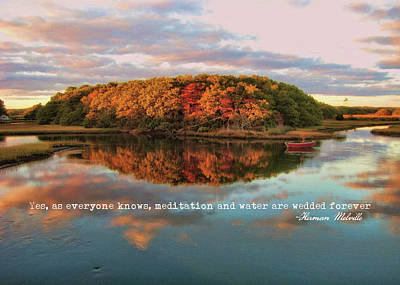 Photograph - Fall In Wellfleet Quote by JAMART Photography