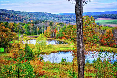 Art Print featuring the photograph Fall Memories At The Ponds by Lynn Bauer