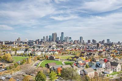 Photograph - Fall Minneapolis Skyline by Habashy Photography