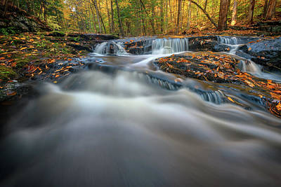 Photograph - Fall Morning At Vaughan Brook. by Rick Berk