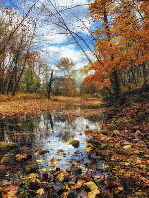 Photograph - Fall On The Creek by Linda Shannon Morgan