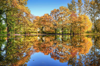 Photograph - Fall Reflection by Cinoby